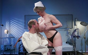 Mature nurse makes man to feel fine again due to long way fuck