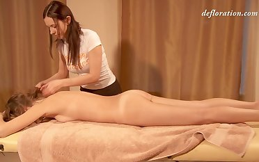 Nice erotic massage with loads be required of oil is what sexy Elena Seregyna needs