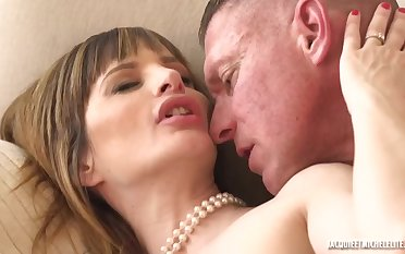 Tight french cougar Ava Courcelles carnal knowledge hang on