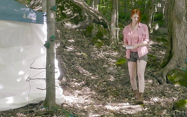 The thing from the Lake sexually overwhelms a guy in the woods