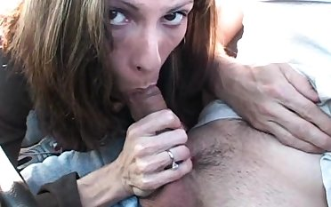Exhibitionist reality blowjob in porn cinema