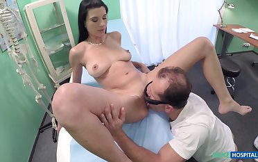 Dirty taint loves to enjoyment from with his natural tits patient