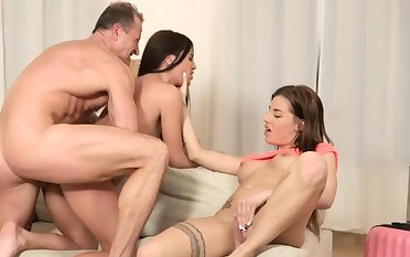 Teen pussy fuck and well provided for first time Mom's 2 crony's