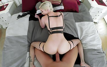Slim porn model fucked approximately positive POV and jizzed on their way ass