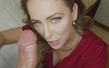 Cherie Deville gets creampied increased by a great deal with big penis