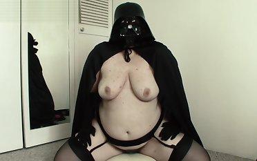 Cum to the Dusky Side - Katy Churchill Star Wars cosplay vibrator orgasm
