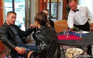 Pornstars Tatiana Milovani added to Claudia Hanks fucked gather up