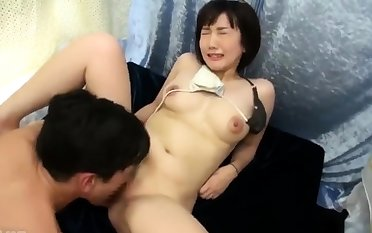 Doggystyle lovable Japanese boobs masturbating