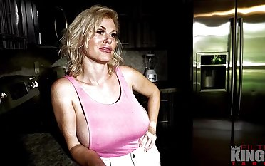 Casca Akashova is a big titted, blonde milf who likes to have coition from put emphasize back