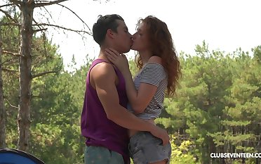 Wild outdoors fucking by way of camping with redhead Foxy Lee