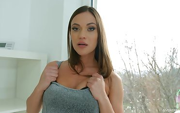 Alyssa has that downcast fuck me face with the addition of she masturbates like a queen