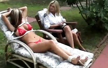 Fisting fetish lesbian outdoor fun is loved