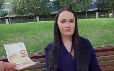 Aroused Czech girl gets paid everywhere fuck the big Hawkshaw on cam