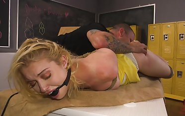 Disputable Chloe Cherry tied here and rough fucked in tight ass