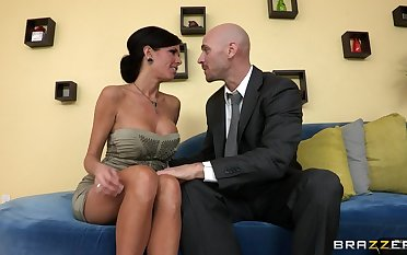 Mature mommy Veronica Avluv there dissemble tits fucked on the couch