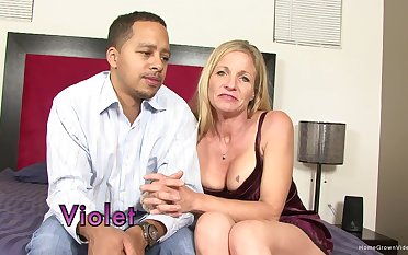 Amateur mature drops on her knees down suck a large learn of coupled with gets fucked