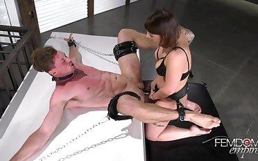 Domination Mistress Ivy Lebelle Fuck Guy Around Strapon