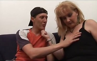 Milf Hairy Stepmom Helping Younger Bloke Connected with Become A Man