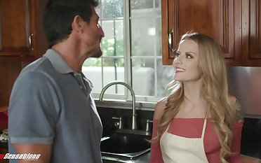 Stepdad can't resist a young woman's seduction coupled with she's got such a nice ass