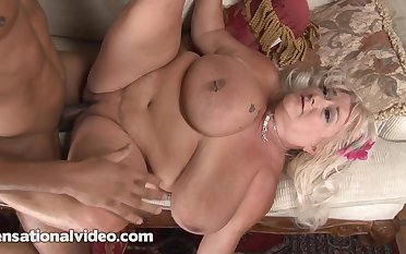 A chubby blonde bbw with this chubby black cock
