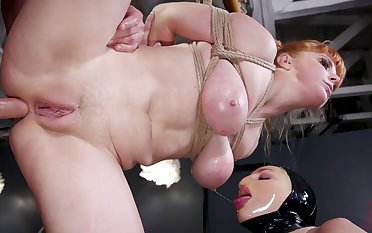 Curvy pet gets a real taste of bondage sex with respect to the dungeon