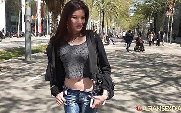 Naughty Asian girl Miyuki hooks up with scarcely known bloke