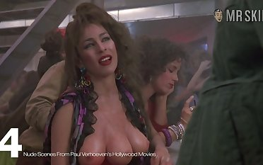 The three breasted hooker from Paul Verhoeven's movie exhibitionism her finances