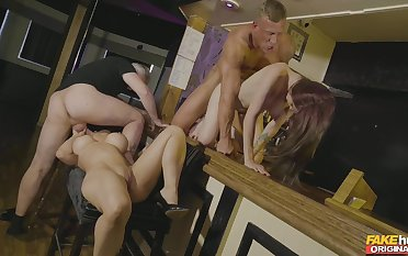 Exclusive foursome beside scenes be worthwhile for dispirited XXX action