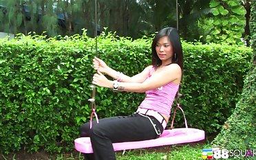 Thai pro Ae Marikarn drops her attire for a MMF triad