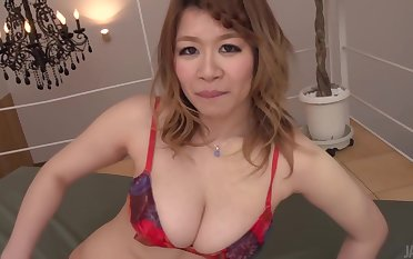 Busty Mature Enhoys Fine Asian Creampie In The End