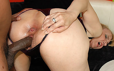 74 years old mom enjoys her first clouded dick