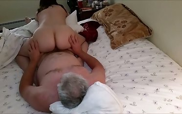My sex-hungry mature wife rides my hard unearth reverse