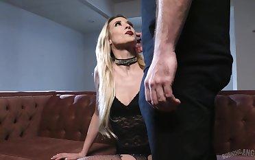 Wild escort slut Aiden Ashley gives terrific deepthroat blowjob