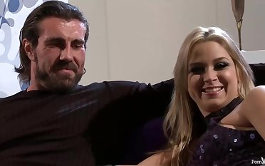 Sarah Vandella is bouncing regarding and down while fucking her best friend, after sucking his cock