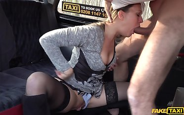 Slutty follower groupie XXX Investor takes will not hear of skit in the infamous Fake Taxi