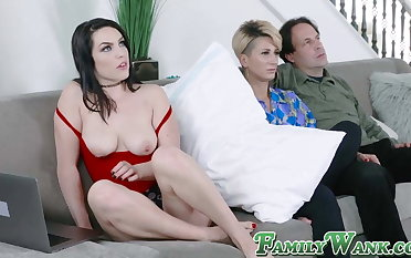 Facetiousmater fucks his stepdaughter hard to the fullest his wife sleep
