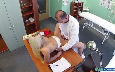 Doctor deep fucks blonde patient in the matter of wise scenes