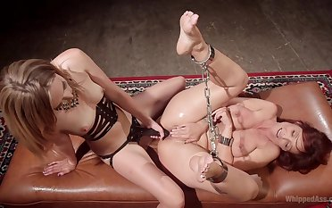 Dirty  BDSM pussy action for two insolent lesbians