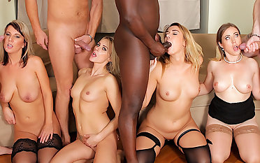Four Blonde Anal Whores Get Their Holes Annihilated hither an IR Anal Orgy