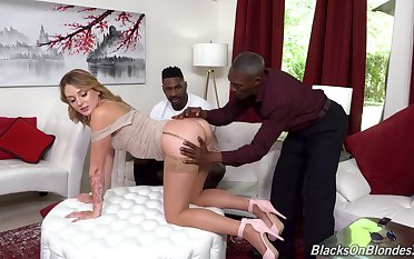 Interracial trine with dirty big Daddy wife Charlotte Sins