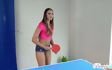 Nude ping pong with horny titless Angelica Cruz ends up as doggy fuck