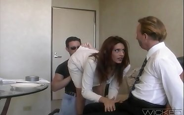Handsome join in matrimony Rayleene rides another dick while tied there hubby watches