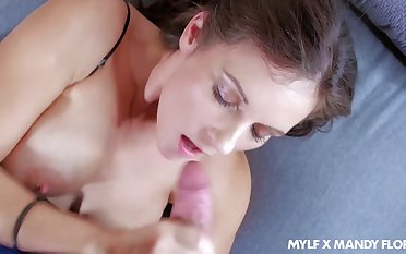 Super good-looking and curvy MILF Mandy Flores solely loves taking cock into disperse