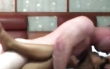 Indonesian Maid Having First Time Sex around White Cock