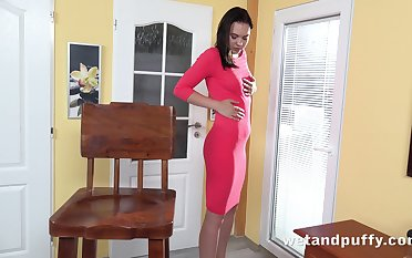 Sex-starved chick Keira K is playing in the air her favorite carnal knowledge toys