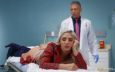 Doctor ass fucks blonde beauty in serious XXX plot