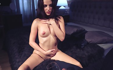 Video of naughty skirt Aliana having some unique enjoyment with her change one's expression