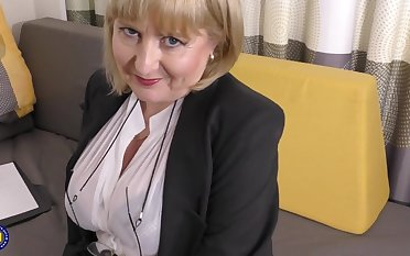 A inchmeal pizazz job interview by 57yo handsome Lorna blu