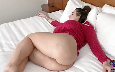 Gorgeous babe with ample assets is obtaining assfucked in the middle of the show one's age increased by enjoying it