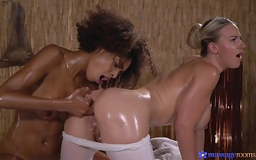 Serious action in the sky the massage meals for two lesbian babes